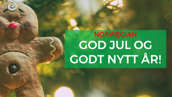 merry christmas and happy new year in norwegian
